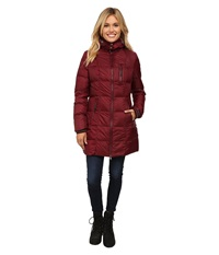 Khombu Down Parka Tawny Port Women's Coat Red