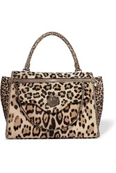 Hill And Friends Happy Zippy Leopard Print Calf Hair Tote Leopard Print