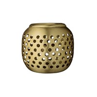 Day Birger Et Mikkelsen Brass Votive Latticed With Holes 12X10cm