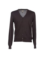 Kaos Knitwear Cardigans Men Dark Brown