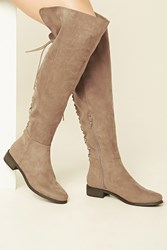 Forever 21 Faux Suede Knee High Boots