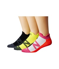 Zensah Invisi Running Sock 3 Pack Black Hot Pink Neon Orange Neon Yellow No Show Socks Shoes Multi