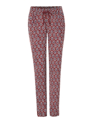La Fee Maraboutee Loose Trousers With Front Pleats Multi Coloured