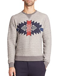 Burkman Bros Graphic Crewneck Sweatshirt Grey