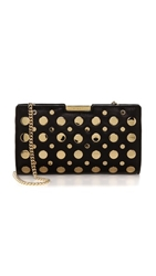 Milly Cara Stud Small Frame Clutch Black