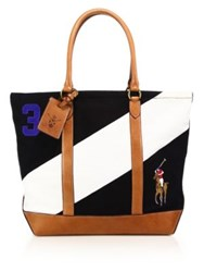 Polo Ralph Lauren Regatta Tote Black White