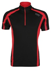 Gore Running Wear Air Sports Shirt Black Red
