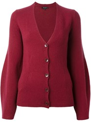 Etro Bell Sleeve Cardigan Red
