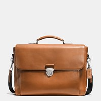 Coach Metropolitan Briefcase In Sport Calf Leather Silver Saddle