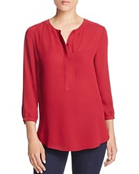Nydj Pleated Back Blouse Carmine