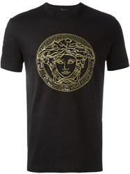 Versace Sequin Detail Medusa T Shirt Black