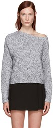 Alexander Wang Black And White Off The Shoulder Sweater
