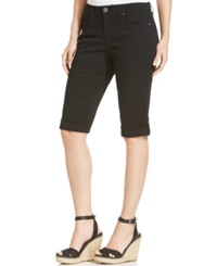 Style And Co. Cuffed Capri Skimmer Jeans Deep Black
