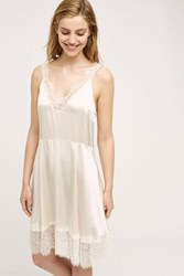 Anthropologie Laced Silk Chemise Ivory