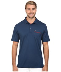 Travis Mathew Hatch Polo Insignia Blue Men's Short Sleeve Pullover