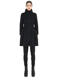 Esgivien High Collar Long Neoprene Coat