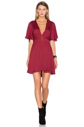 House Of Harlow X Revolve Harper Wrap Dress Burgundy