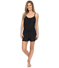 Athena Removable Soft Cup Romper Black Women's Swimsuits One Piece