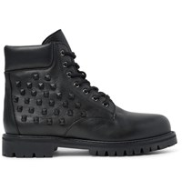 Valentino Studded Leather Boots Black