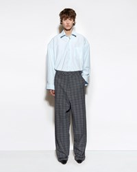 Vetements Baggy Suit Pants Grey Check