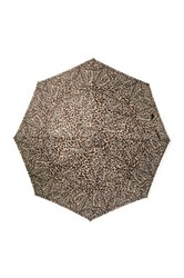 Shedrain Automatic Open And Close Printed Stick Umbrella Brown