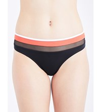 Jets By Jessika Allen Electrify Mesh Panelled Bikini Bottoms Black Flame