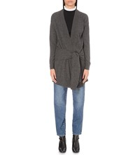 Sandro Edith Wool And Cashmere Blend Cardigan Anthracite