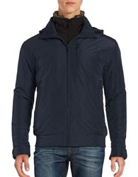Weatherproof Rugged Oxford Bomber Jacket Artic Blue