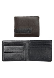 Nixon Brown Showout Bi Fold Snap Coin Wallet