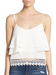 Tiered Tank Top White