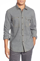 Jeremiah 'Fort' Regular Fit Chambray Long Sleeve Sport Shirt Admiral