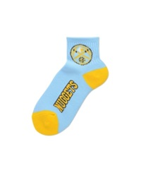 For Bare Feet Denver Nuggets Ankle Tc 501 Medium Socks Light Blue Yellow