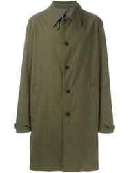 Maison Martin Margiela Buttoned Trench Coat Green