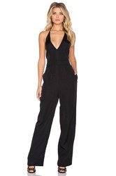 Minkpink Take Care Backless Jumpsuit Black