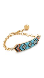 Shourouk Athna Peace Bracelet Blue Multi