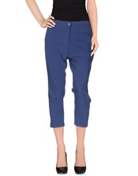 Kontatto Trousers 3 4 Length Trousers Women Blue
