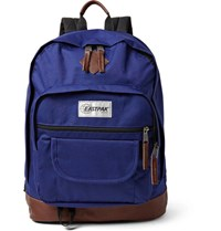 Eastpak Sugarbush Into The Out Leather Trimmed Canvas Backpack Royal Blue