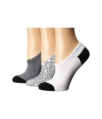 Converse 3 Pack Made For Chucks Tribal White Black Women's No Show Socks Shoes
