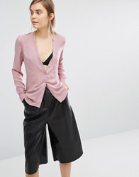Vero Moda Collarless Shirt Rose Pink