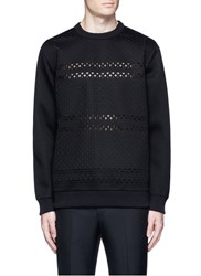Givenchy Cross Perforated Sweatshirt Black
