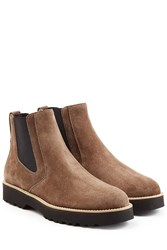 Hogan Suede Chelsea Boots Brown