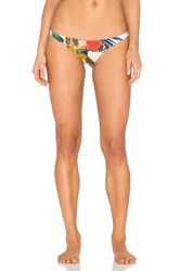 Vitamin A Samba Ruched Back Bikini Bottom Ivory