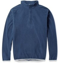 Peter Millar Zip Collar Fleece Golf Sweatshirt Navy