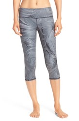 Alo Yoga Women's Alo 'Airbrushed' Performance Capris Black Marble Glossy