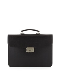 Royce Leather Gps Tracking And Rfid Blocking Leather Briefcase Black
