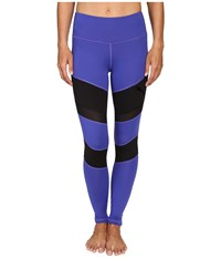 Puma Mix Material Tights Royal Blue Black Women's Casual Pants Royal Blue Puma Black