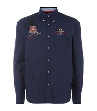 La Martina Poplin Long Sleeve Shirt Male Navy