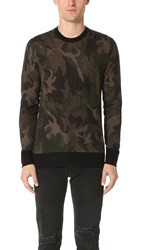 Rag And Bone Camo Crew Sweater Army Green