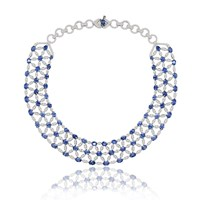 Sutra Sapphire Necklace Blue