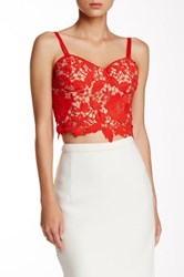 Champagne And Strawberry Lace Bustier Orange